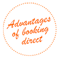 Advantages for direct bookers